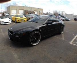 Black BMW 645i black on black